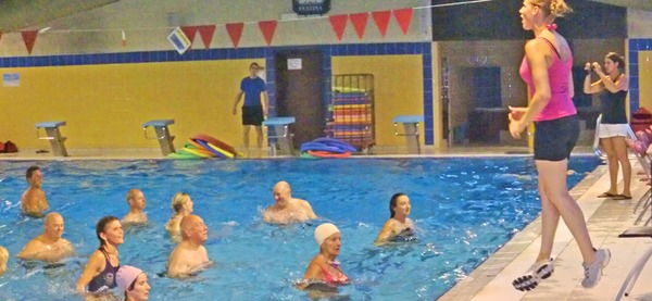​ ​​ ​Piscine d'Aywaille, cours d'aquafitness