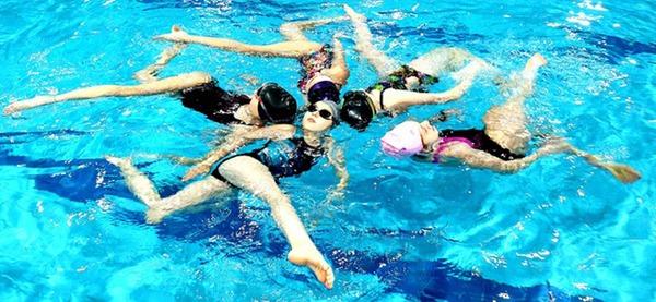Piscine d'Aywaille, natation synchronisée
