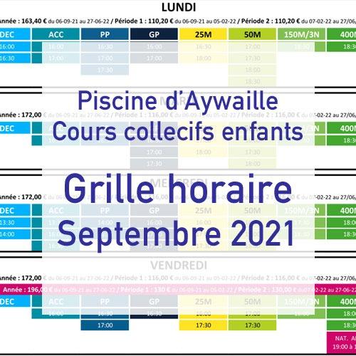 Glle cours collectifs enfants septembre 2021