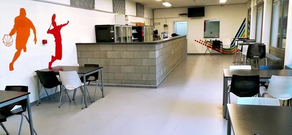 Centre sportif d'Aywaille, cafétéria du hall omnisports